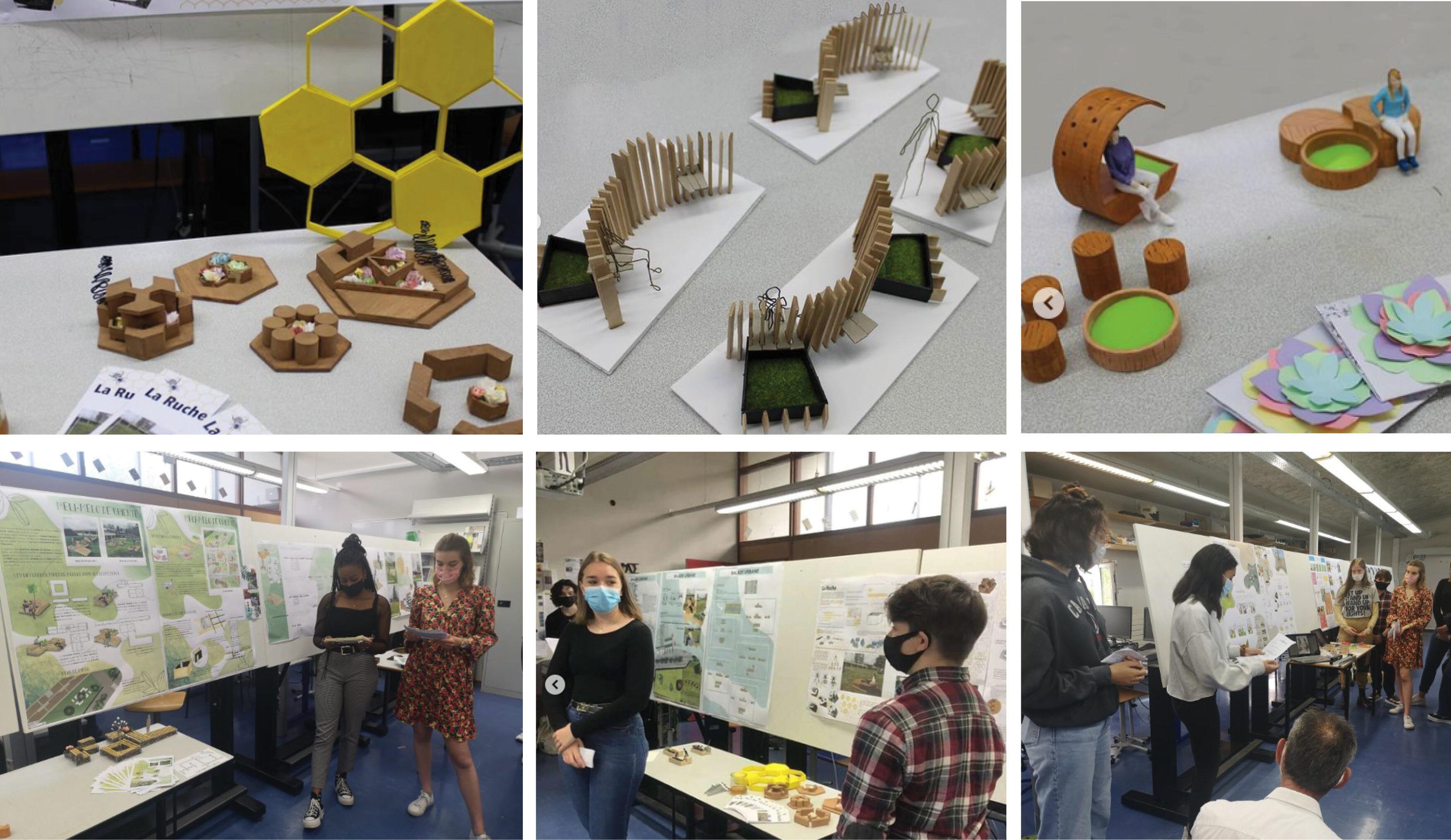 Maquettes et présentation du projet Jardin des sens